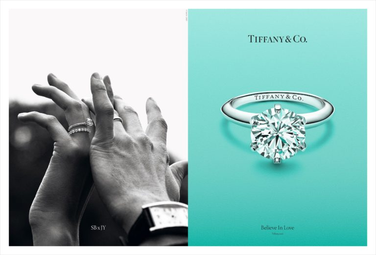 "BRIDAL CAMPAIGN 2017 HANDS ONE SBxJY SPREAD 768x522 - Lady Gaga в новой кампании TIFFANY&Co ""Believe in Love"""
