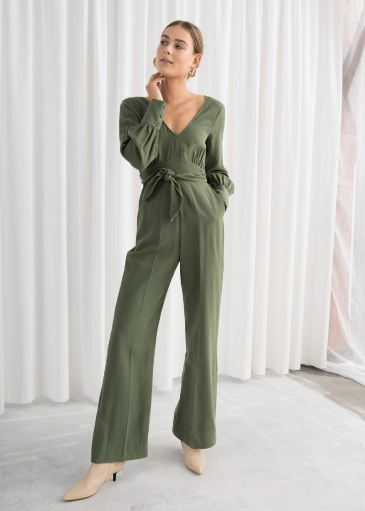 Other Stories Flared Belted Jumpsuit