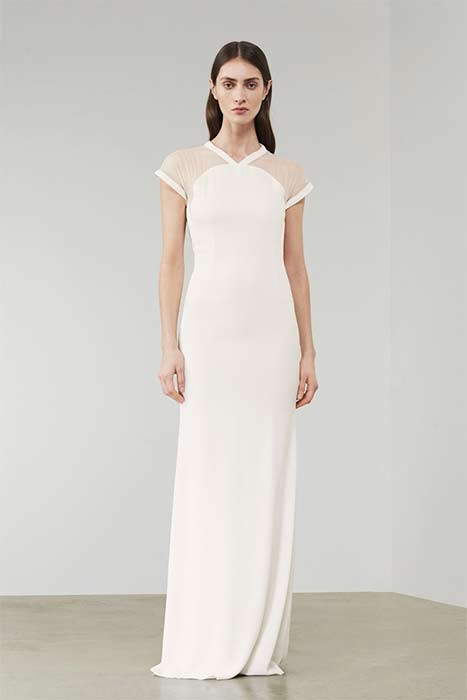 Victoria Beckham Sheer Panel Wedding Dress Z