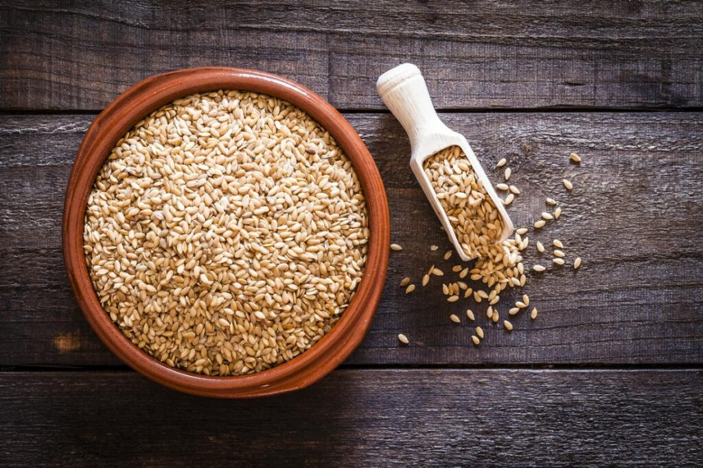 Flaxseed In A Bowl